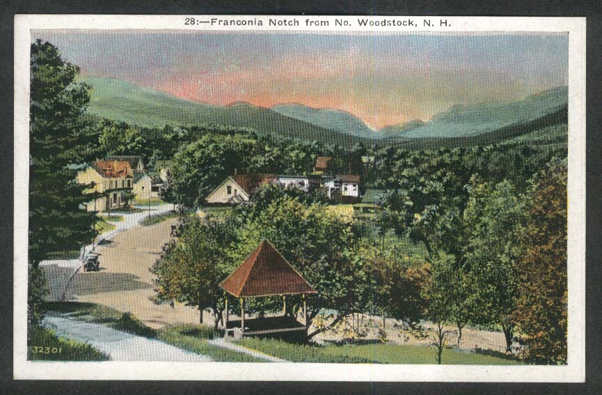 Franconia Notch from North Woodstock NH postcard 1920s