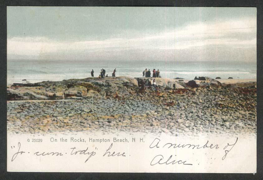 On the Rocks Hampton Beach NH undivided back postcard 1907