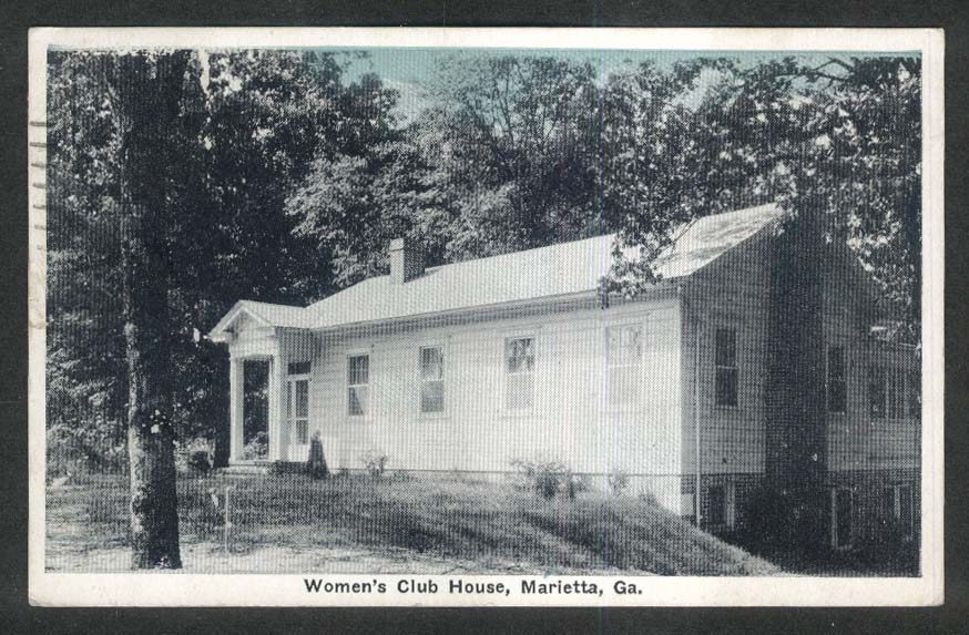 Women's Club House Marietta GA postcard 1932