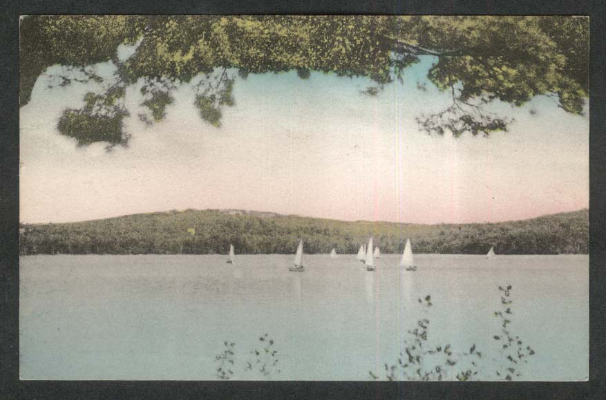 Monadnock Lake Dublin NH postcard 1953