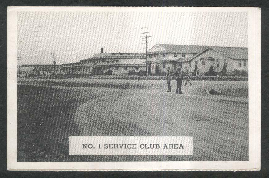 No 1 Service Club Area Camp Barkeley TX postcard 1944