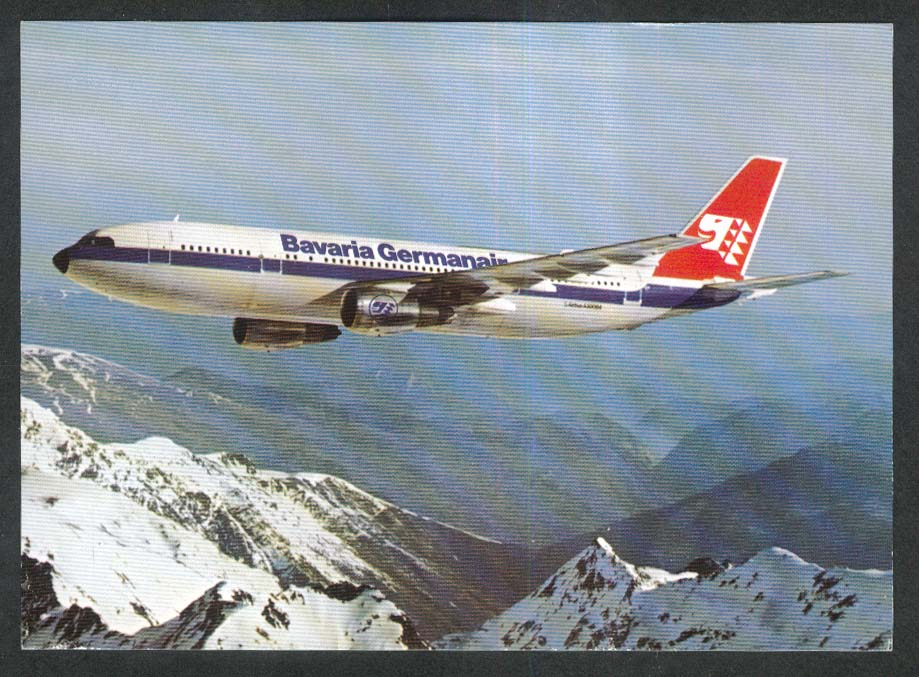 Bavaria Germanair Airbus A300B4 postcard 1970s