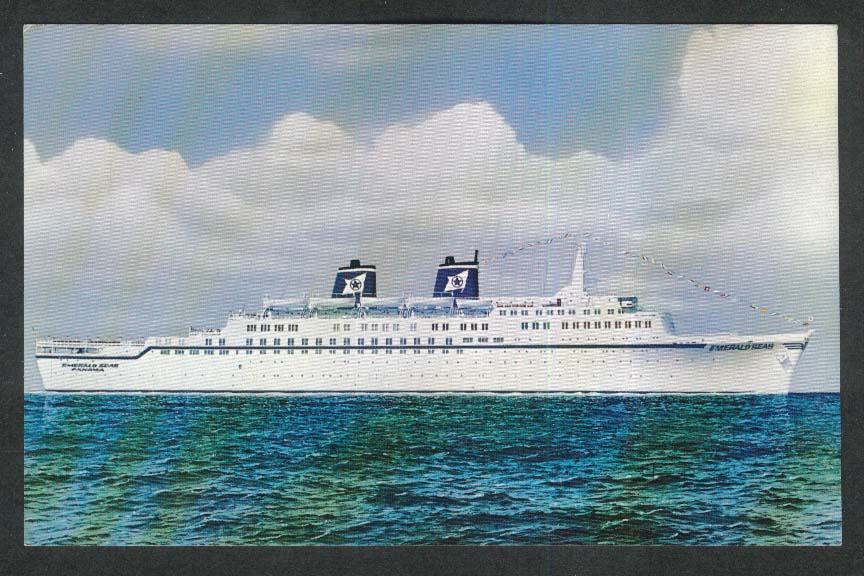 Eastern Steamship Lines Inc SS Emerald Seas postcard 1950s