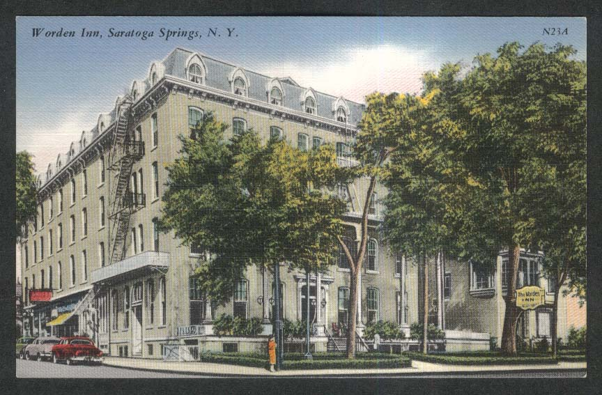Worden Inn Saratoga Springs NY postcard 1930s