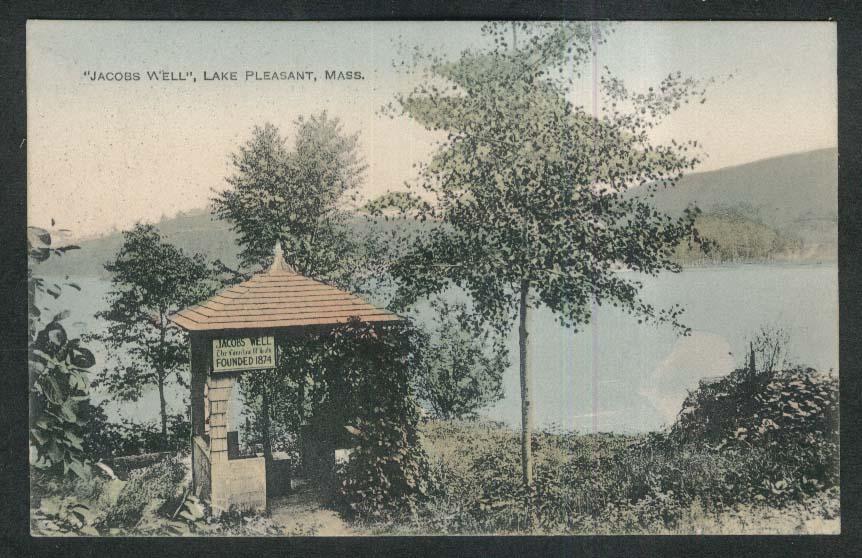 Jacobs Well Lake Pleasant MA postcard 1922