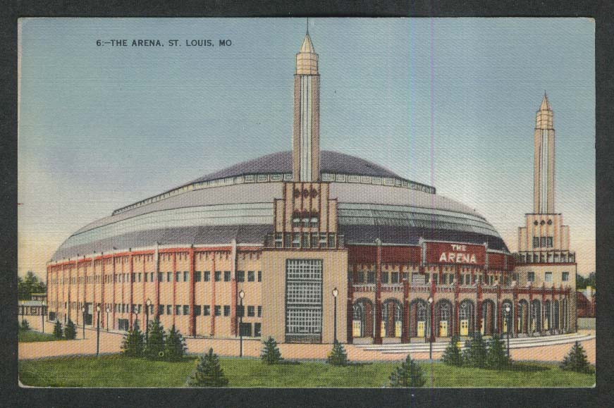 The Arena St Louis MO postcard 1945