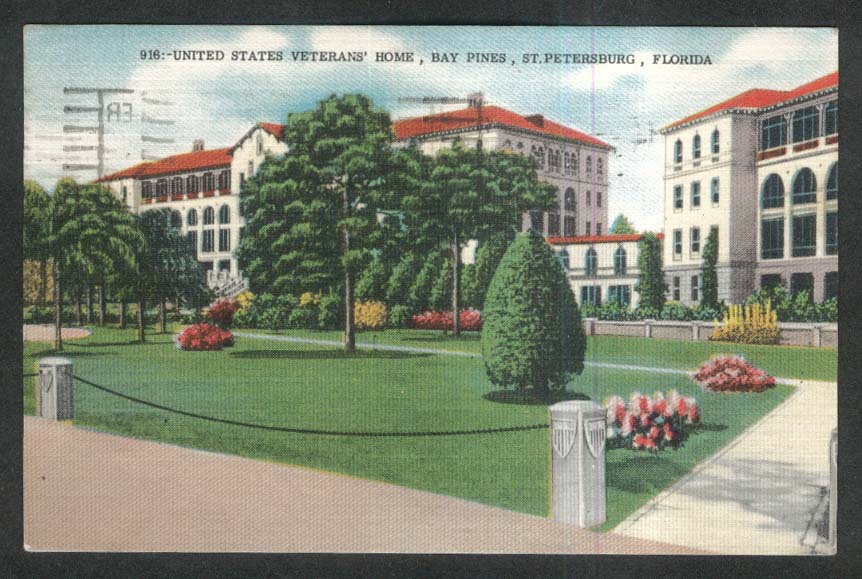 United States Veterans Home Bay Pines St Petersburg FL postcard 1960