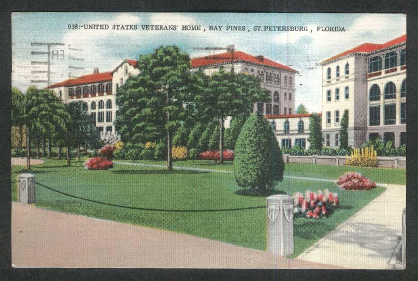 United States Veterans Home Bay Pines St Petersburg FL postcard 1960