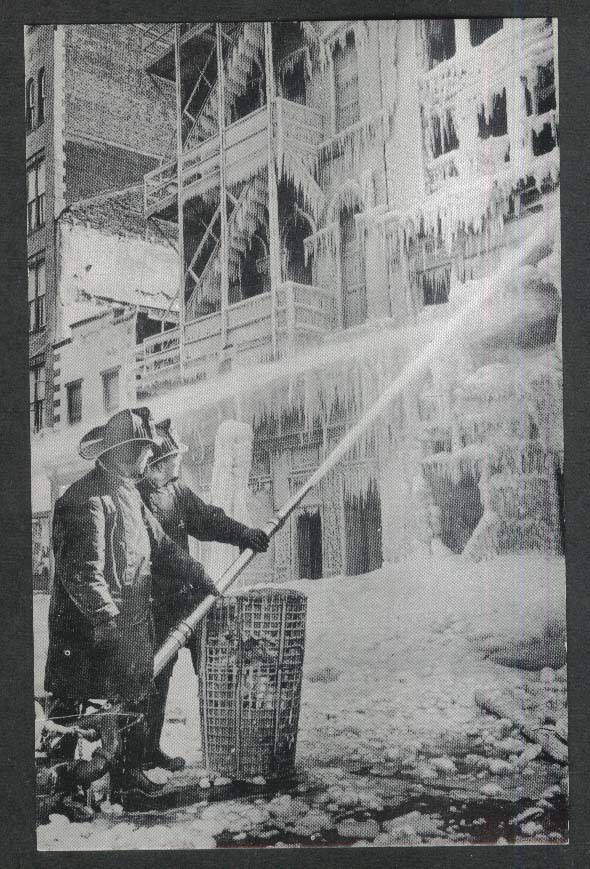 Firefighter Rich Gardner Engine 13 fire at Santa Pack CO postcard 1963