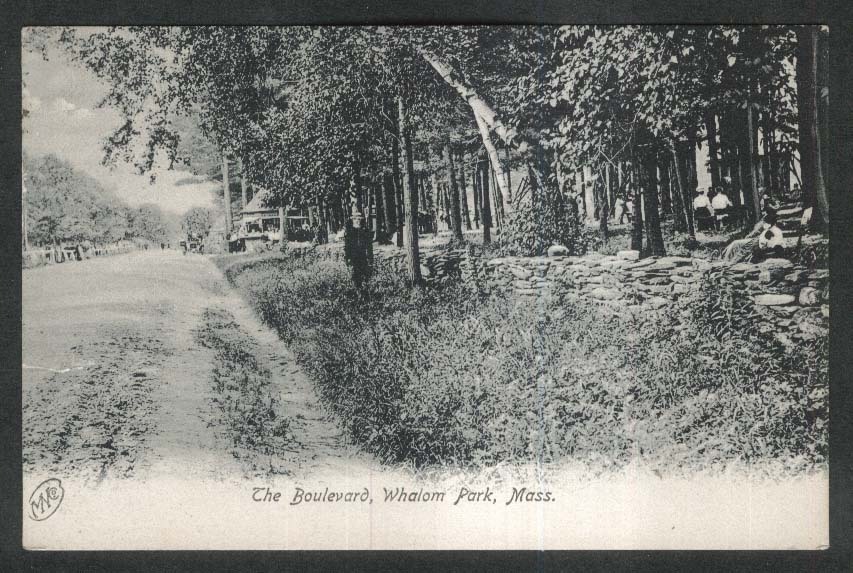 The Boulevard Whalom Park MA undivided back postcard 1909