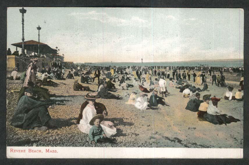 Revere Beach MA postcard 1908
