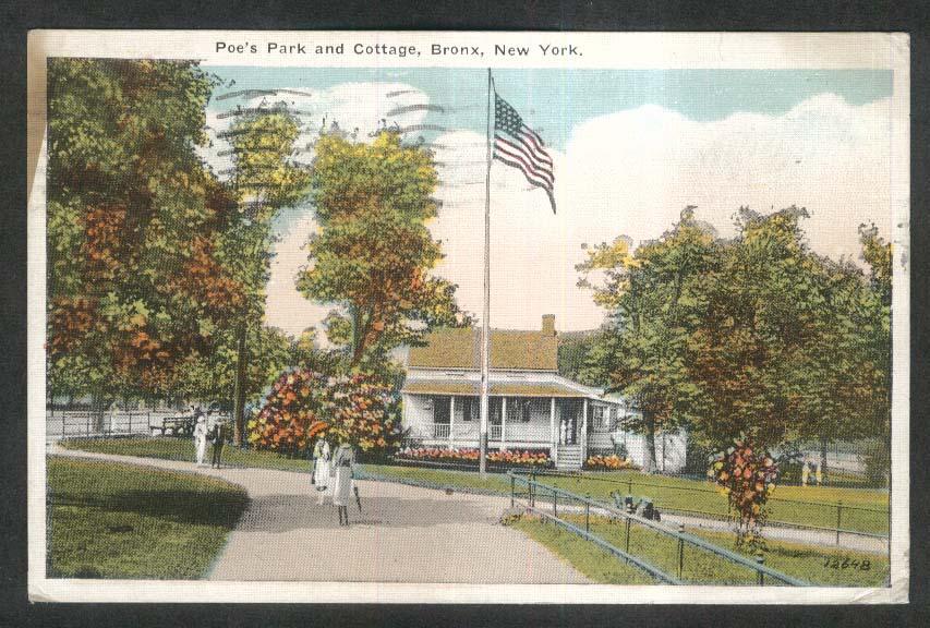 Poe's Park & Cottage Bronx NY postcard 1922