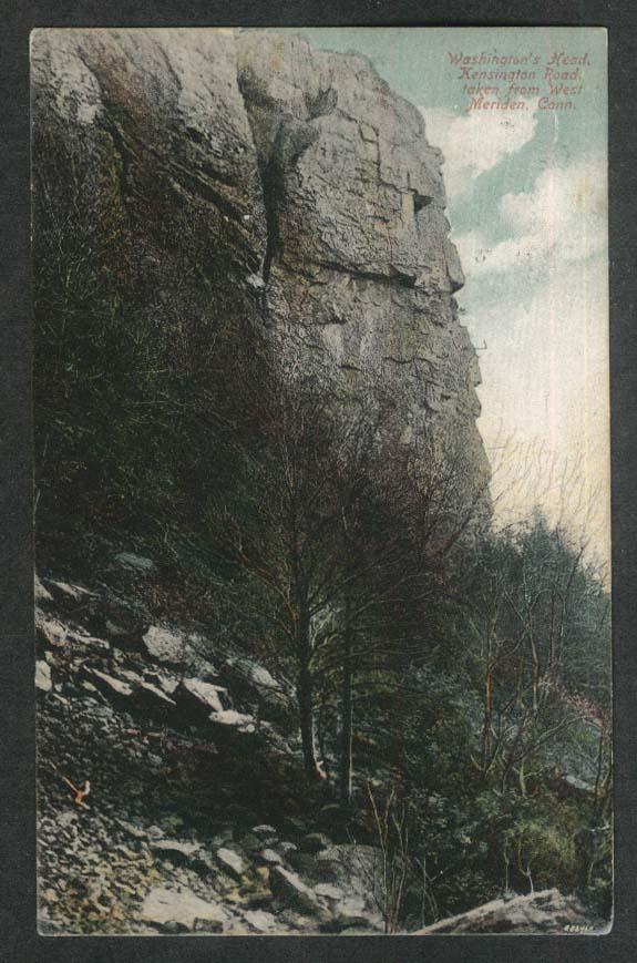 Washington's Head Kensington Road taken from West Meriden CT postcard 1910
