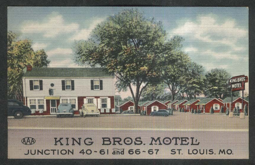 King Bros Motel St Louis MO postcard 1946