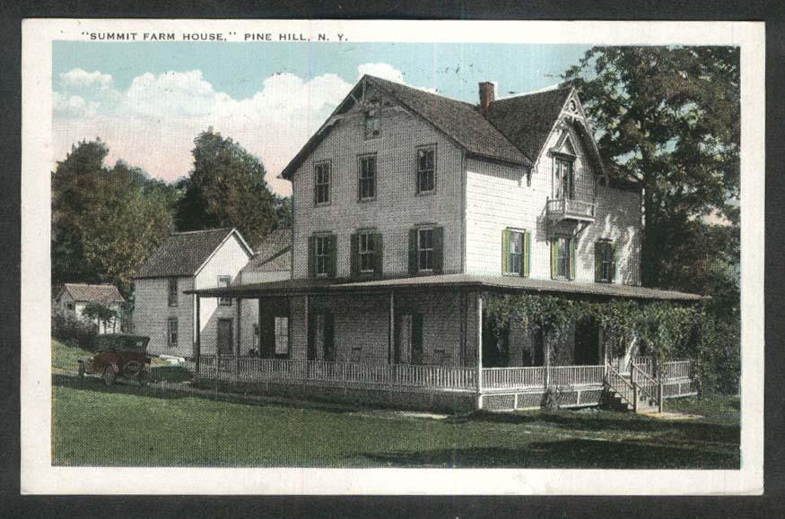 Summit Farm House Pine Hill NY postcard 1927