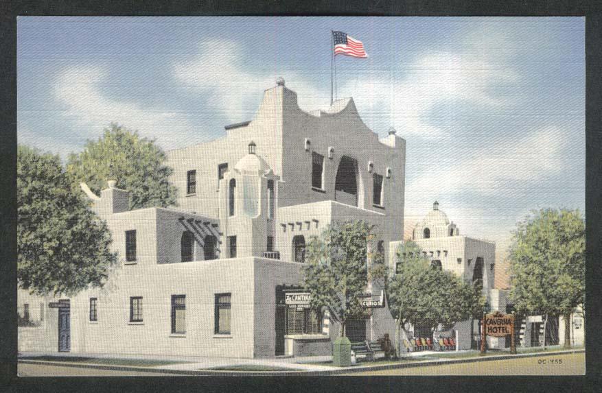 Hotel La Caverna Carlsbad NM postcard 1930s