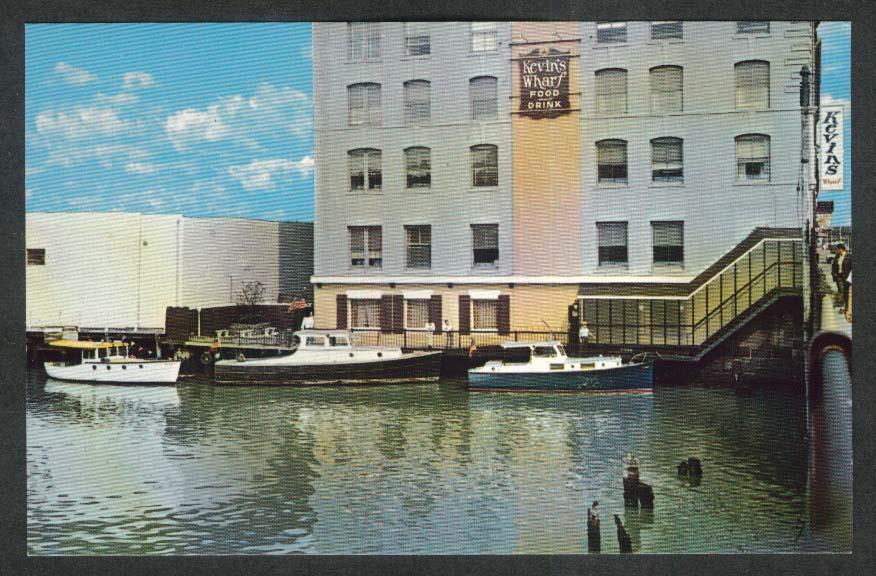 Kevin's Wharf 254 Summer St Boston MA postcard 1950s