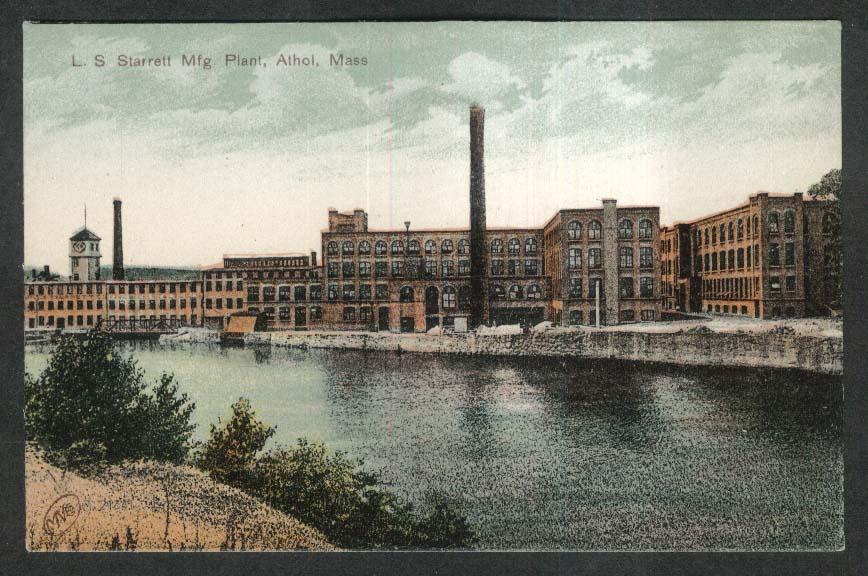 L S Starrett Manufacturing Plant Athol MA postcard 1910s