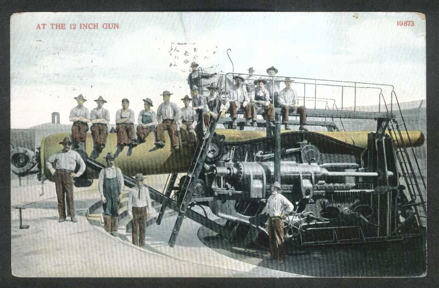 12 Inch Coastal Defense Gun M1895 postcard 1911
