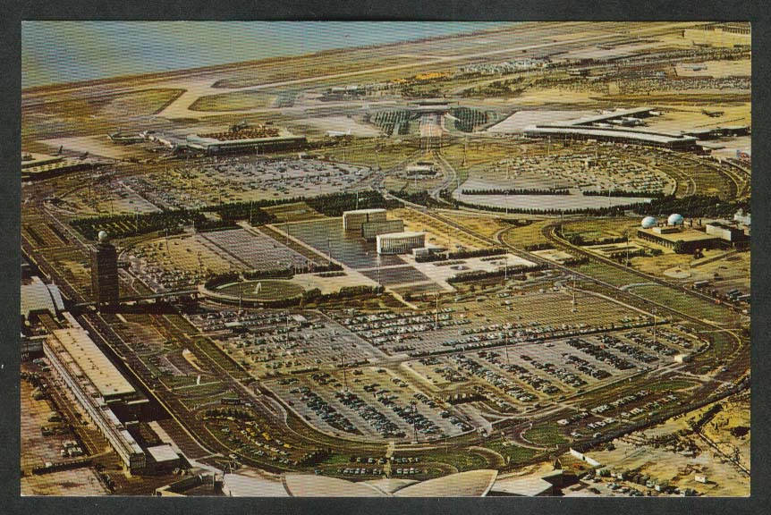 John F Kennedy International Airport NY postcard 1960s