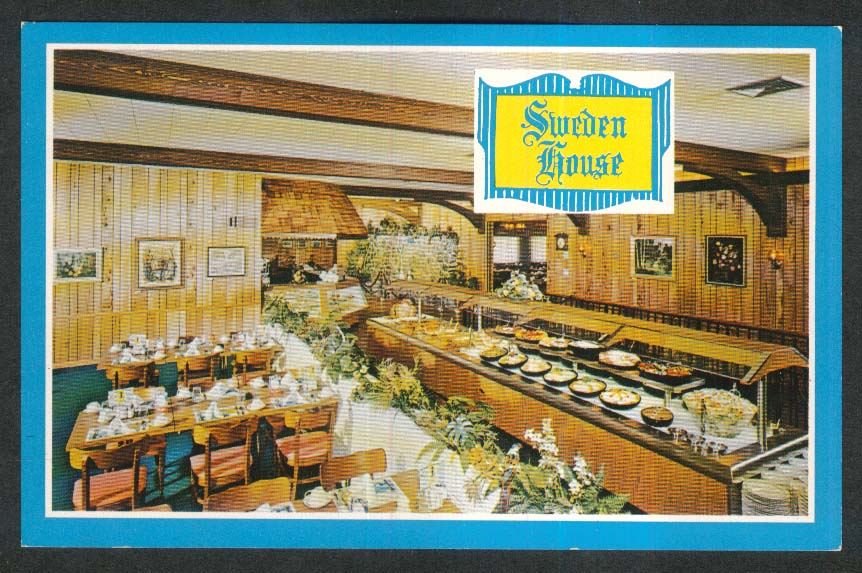 Sweden House Smorgasbord Miami Beach FL postcard 1950s