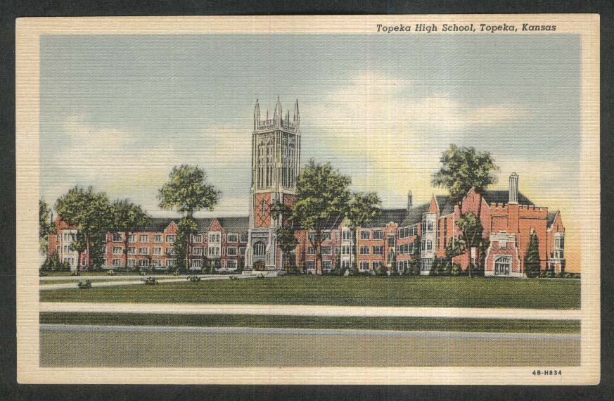 Topeka High School Topeka KS postcard 1930s