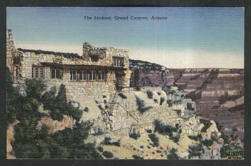 The Lookout Grand Canyon AZ postcard 1930s