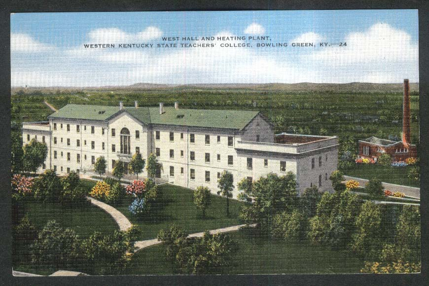 West Hall Western Kentucky State Teacers College Bowling Green KY postcard 1930s