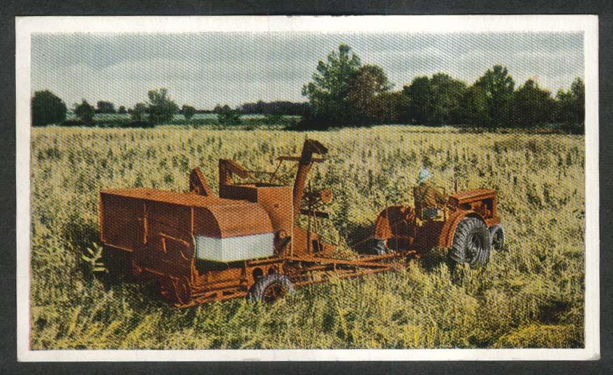 Allis-Chalmers All-Crop Harvester postcard 1920s