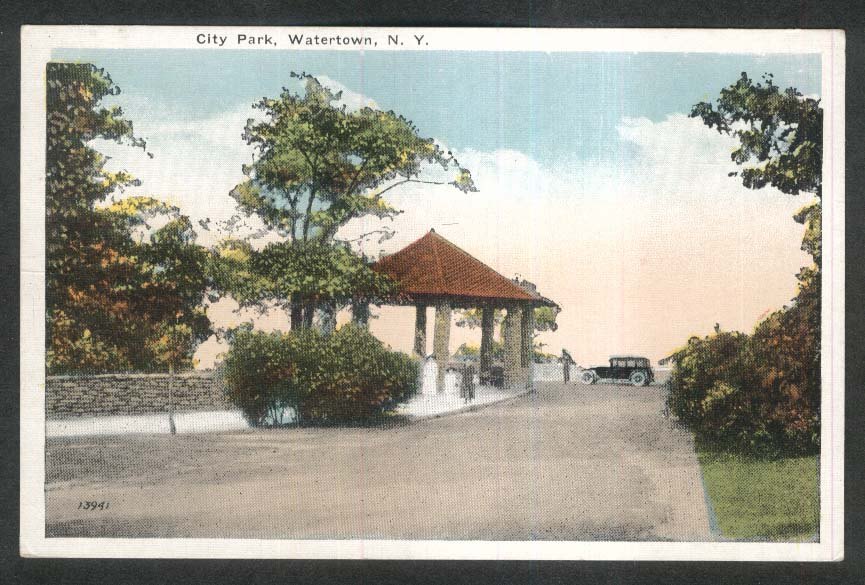 City Park Watertown NY postcard 1930s
