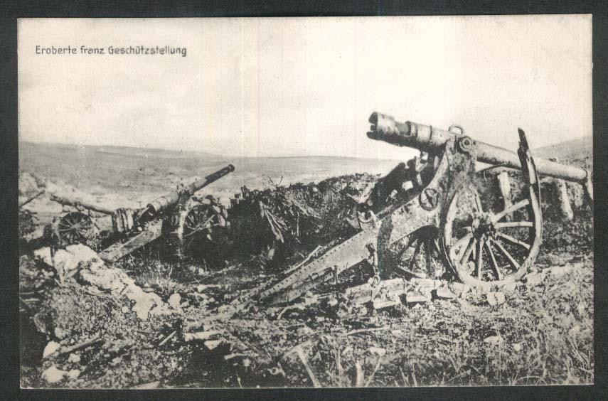 Captured French Gun: German World War I postcard 1910s