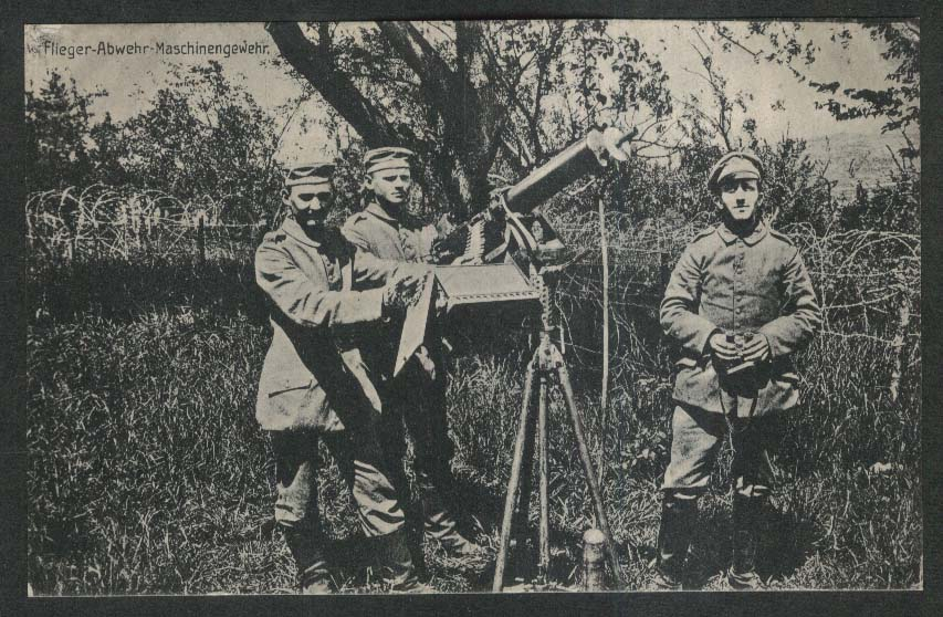 Air Defense Machine Gun: German World War I postcard 1910s