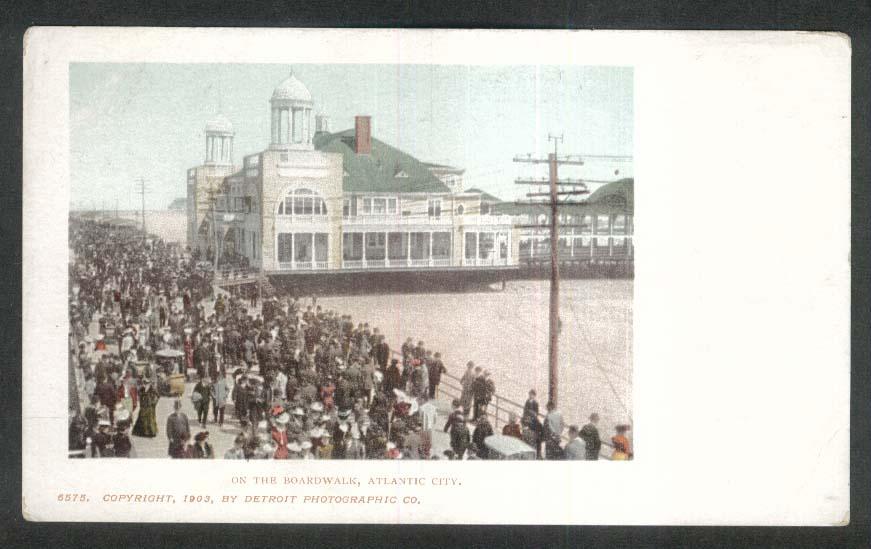 On the Boardwalk Atlantic City NJ undivided back postcard 1903