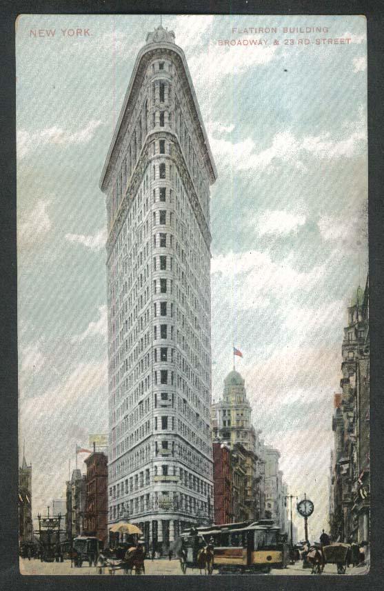 New York Flatiron Building Broadway & 23rd Street undivided back postcard 1900s