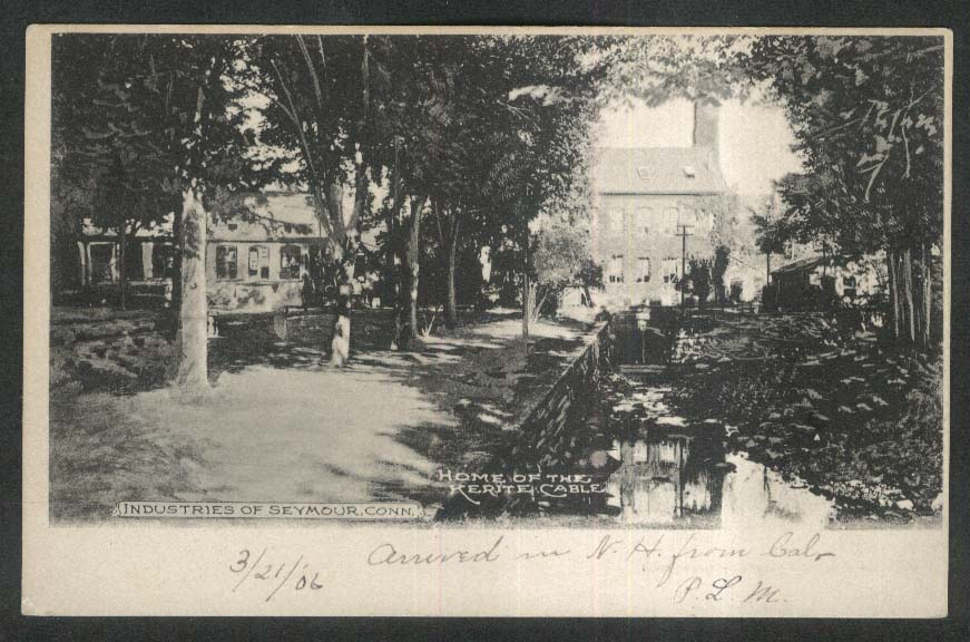 Industries of Seymour CT Home of the Kerite Cable undivided back postcard 1900s
