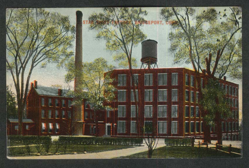 Star Shirt Factory Bridgeport CT undivided back postcard 1900s