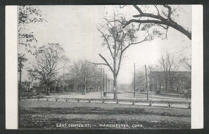 East Center Street Manchester CT undivided back postcard 1900s
