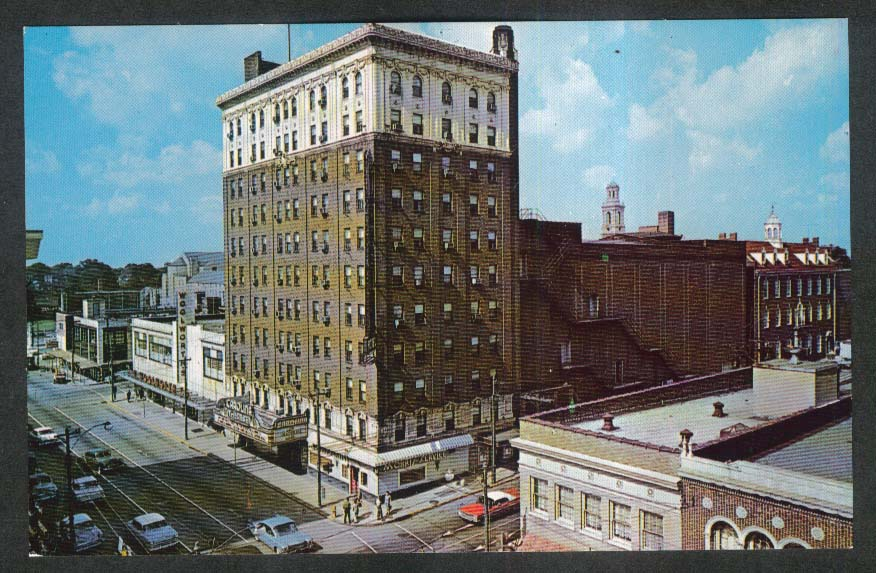 Carolina Hotel 407 W Fourth St Winston-Salem NC postcard 1950s