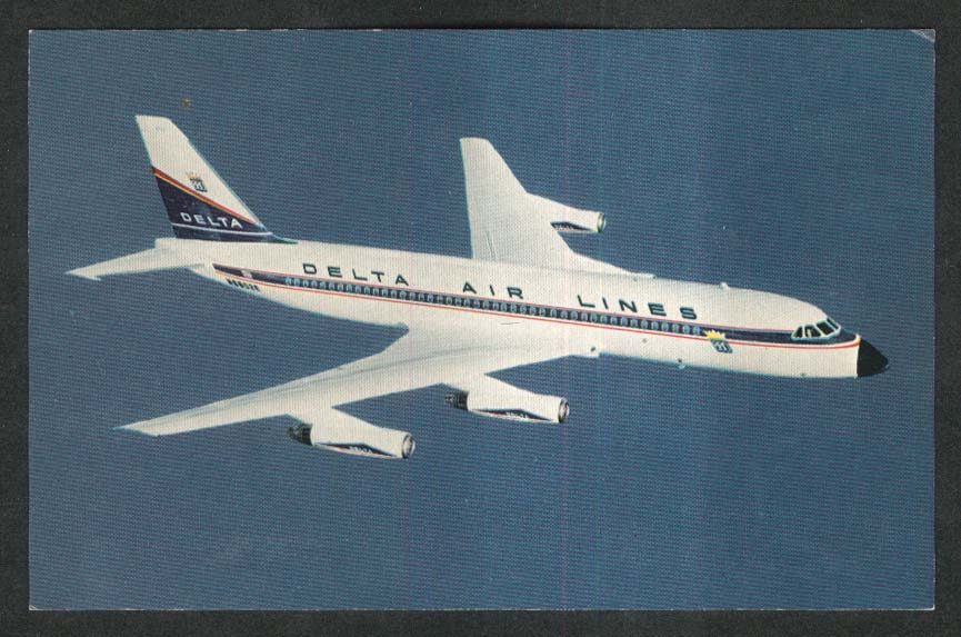 Delta Convair 880 Jetliner postcard 1960s