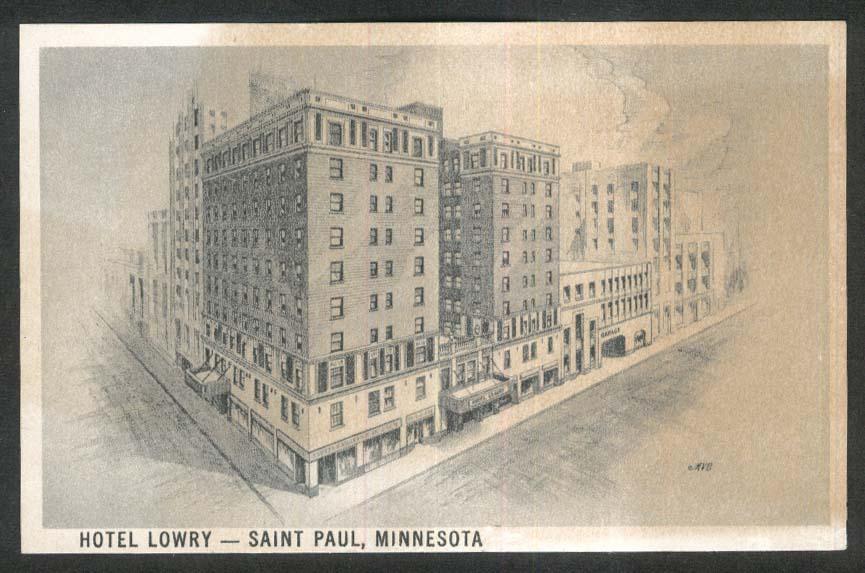 Hotel Lowry Saint Paul MN postcard 1920s