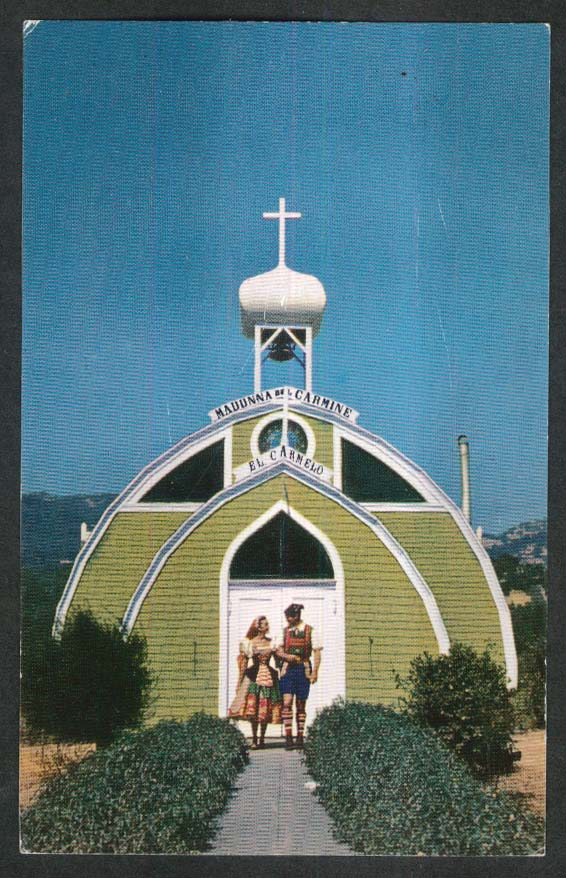 El Carmelo Chapel Italian Swiss Colony Vineyards Asti CA postcard 1950s