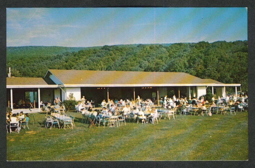 Dinner on the Hill Capon Springs & Farms WV postcard 1960s