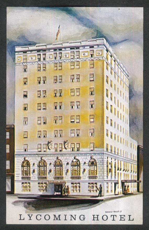Lycoming Hotel Williamsport PA postcard 1950s Home of Little League Baseball