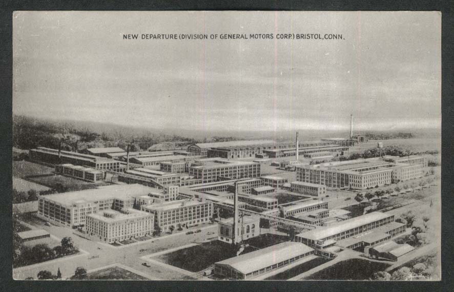 New Departure Division of General Motors Corporation Bristol CT postcard 1930s
