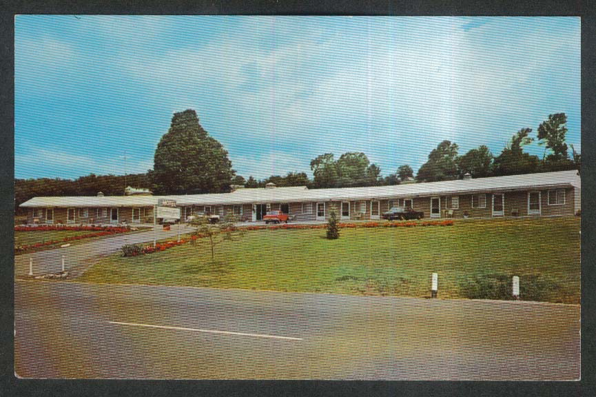 Morpheus Arms Motel Stockbridge MA postcard 1960s