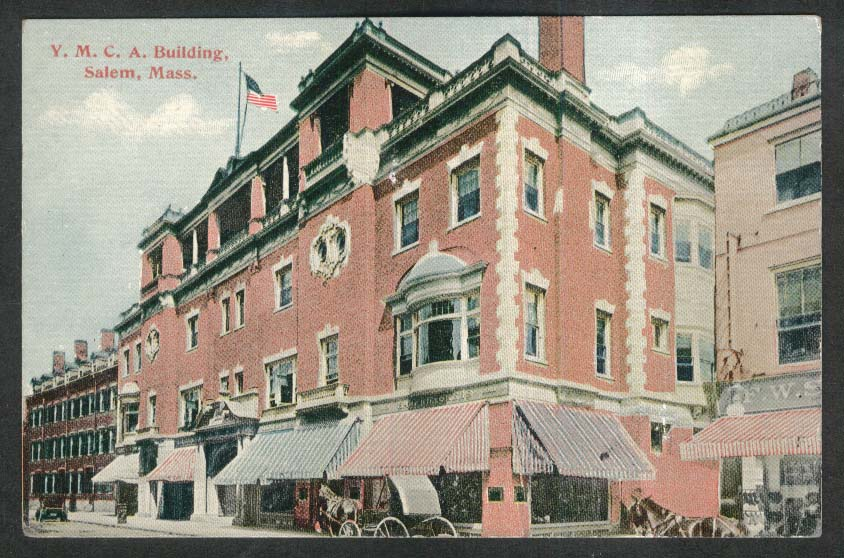 YMCA Building Salem MA postcard 1910s
