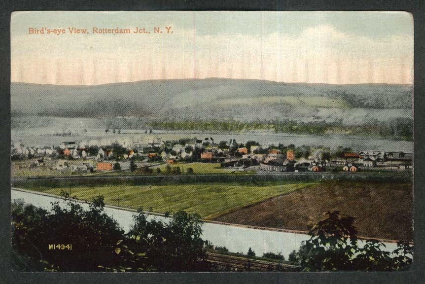 Bird's-eye View Rotterdam Junction NY postcard 1910s