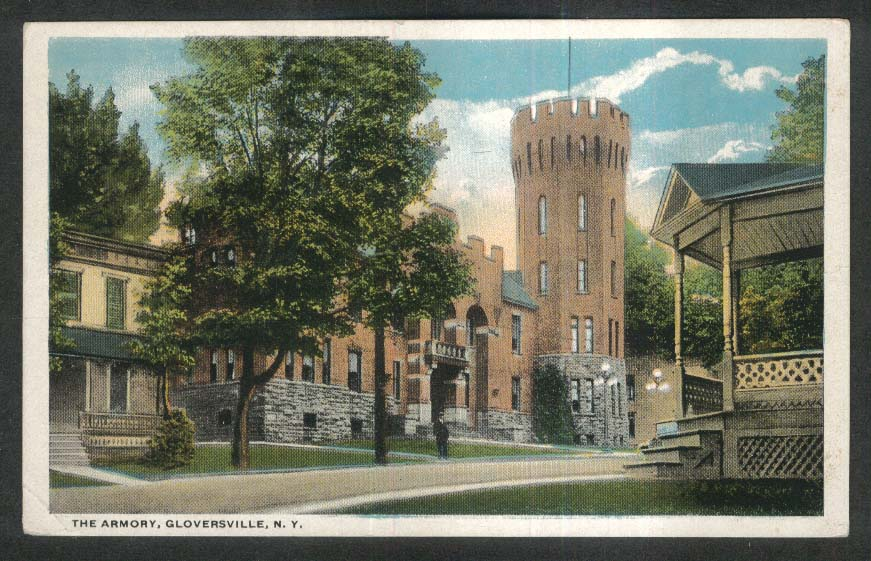The Armory Gloversville NY postcard 1910s