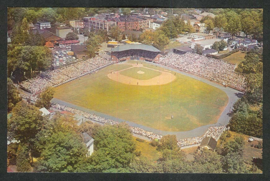 Air View of Doubleday Field Cooperstown NY postcard 1960s