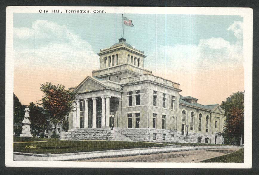 City Hall Torrington CT postcard 1910s